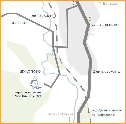 Схема проезда Клуб Леонида